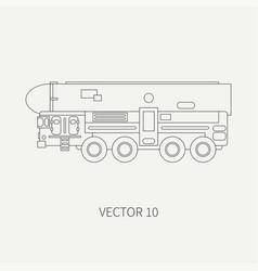 Line flat plain icon armored reactive vector
