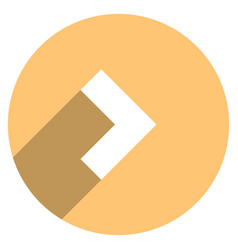 Arrow sign circle icon vector