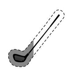 Golf club isolated icon vector