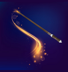 magic wand realistic composition vector image