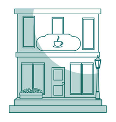 Coffee shop building isolated icon vector