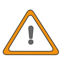 traffic signal alert symbol vector image