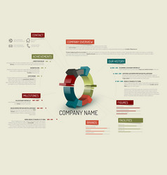 Company overview template vector