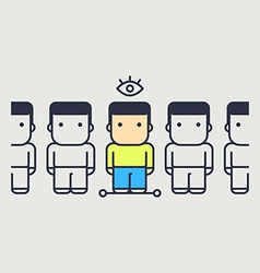 individual character that sight wisdom in society vector image