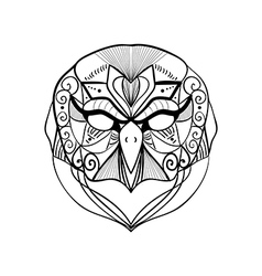 Tribal geometric owl vector