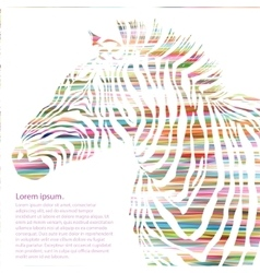 Animal of watercolor zebra silhouette vector