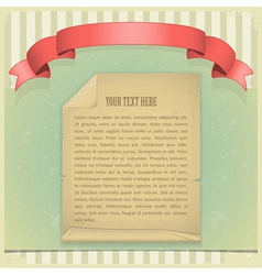 Paper red ribbon vector