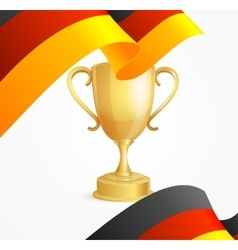 Germany winning cup concept vector