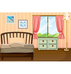 An empty bedroom vector image vector image