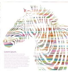 Animal of watercolor zebra silhouette vector