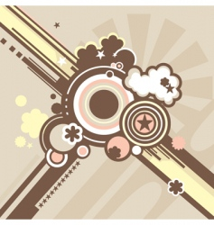 background in retro style vector image