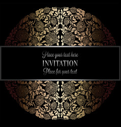 baroque background with antique luxury black and vector image vector image