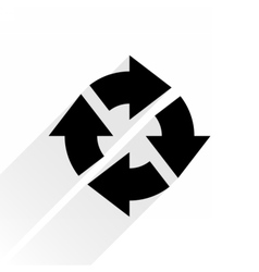 Black arrow icon repeat sign on white background vector