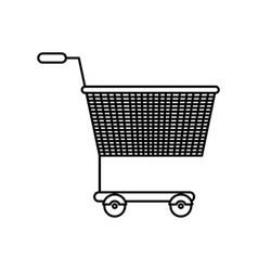 black silhouette of shopping cart vector image vector image