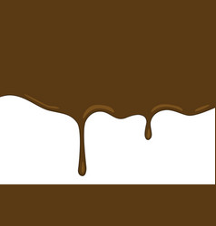 Chocolate flow wave on white background vector