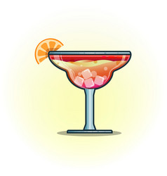 cocktails drinks in glasses vector image vector image
