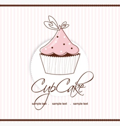 Cup cake vector