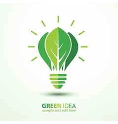 Green idea vector image vector image