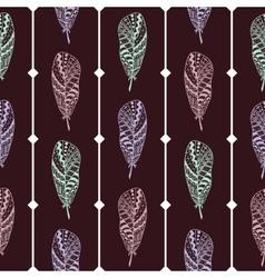 Hippie seamless pattern marsala color vector