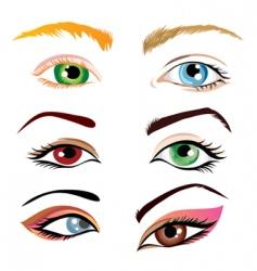 Human eyes vector