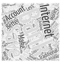 Internet banking savings accounts word cloud vector