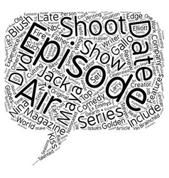 Just Shoot Me DVD Review text background wordcloud vector image vector image