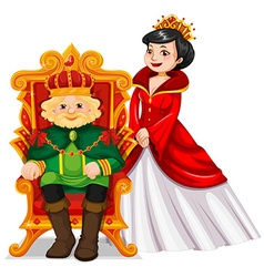 King and queen at the throne vector