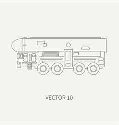 line flat plain icon armored reactive vector image