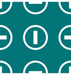 Minus web icon flat design seamless pattern vector
