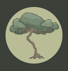 Oak symbol vector
