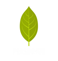 Persimmon leaf icon flat style vector