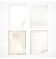 Set of white sheet papers vector image vector image