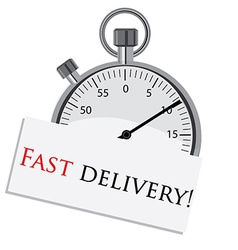Stopwatch fast delivery vector image