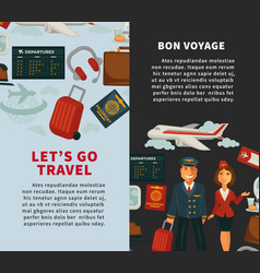 travel poster of traveling or vacation trip vector image