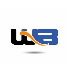 Wb initial company group logo vector
