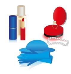 women accessories icon set vector image vector image
