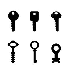 Door key set  eps 10 vector