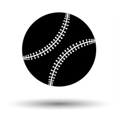 Baseball ball icon vector