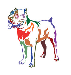 Colorful decorative standing portrait of dog cane vector