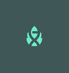 Abstract bio tech leaf dna logo design green vector
