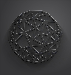 Abstract gray polygonal circle vector