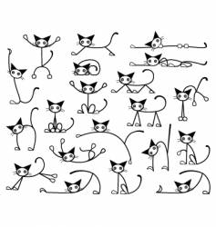 Kitty cats vector