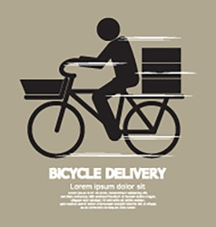 Bicycle delivery service graphic symbol vector