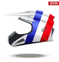 France flag on motorcycle helmets vector