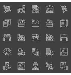 Moving line icons set vector