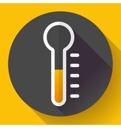 Thermometer icon temperature symbol  flat vector