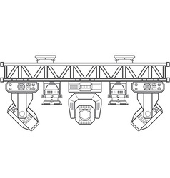 Outline stage metal truss concert lighting vector