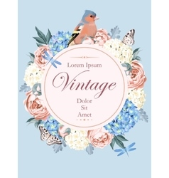Beautiful vintage card with bird vector image