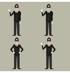 Set of british police men vector