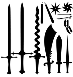 set of knives EPS10 vector image